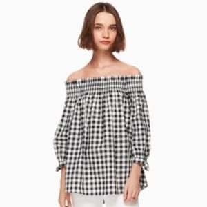 Kate Spade Gingham top - new with tags